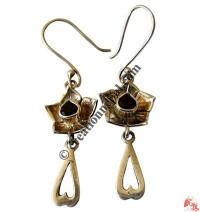 Heart-flower silver ear rings1