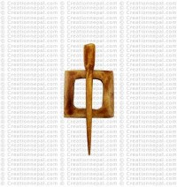 Free 2-piece design bone button (packet of 10)