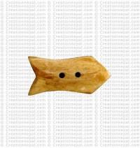Fish shape bone button2 (packet of 10)