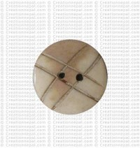 Cross carved round button (packet of 10)
