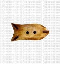 Fish shape bone button3 (packet of 10)