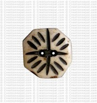 Octagon shape small button (packet of 10)