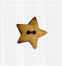 Star bone button (packet of 10)