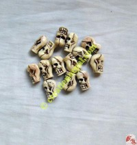 Skull beads (packet of 12 beads)