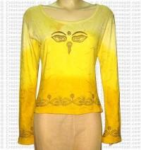 Buddha -Eye print rib t-shirt
