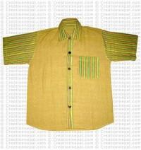 Patch-pocket cotton shirt