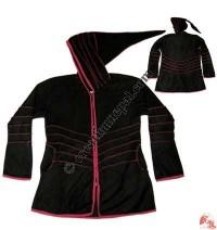 Fleece over-lock design jacket
