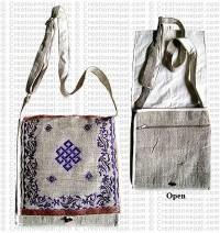 Nagpasa embroidered hemp square bag