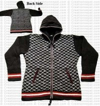 Woolen hooded jacket76