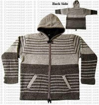 Woolen hooded jacket85