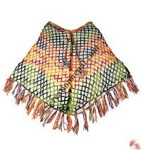 2-layer net design woolen poncho