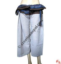 Fisherman design quarter length wrapper trouser2