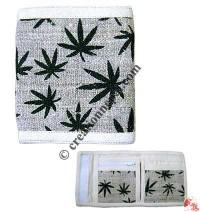 Hemp leaves print hemp wallet