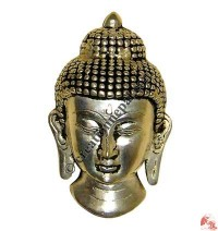 Buddha head silver coated wall decorative