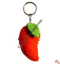 Mango shape felt key-ring