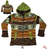 Woolen mix-color ladies jacket01