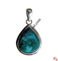 Heart shape turquoise silver pendant4