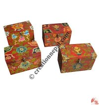 Medium size wooden Tibetan painted box1