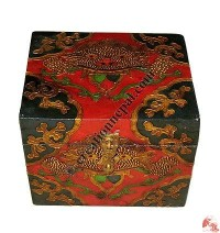 Small size wooden Tibetan painted simple box3