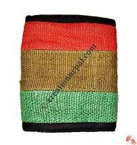 Three color hemp wallet