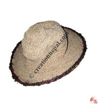 Hemp-cotton wire round hat