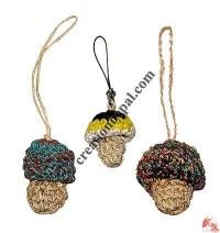 Hemp-cotton Mushroom mobile strap