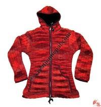 Mixed color  woolen ladies jacket
