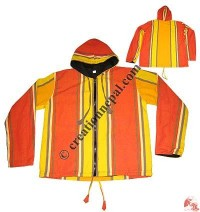 Big stripes shyama cotton hooded jacket