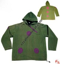 Shyama round patch hooded jacket