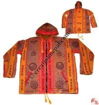 Shyama stonewash block print jacket