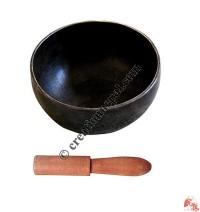 Hand beaten etching singing bowl