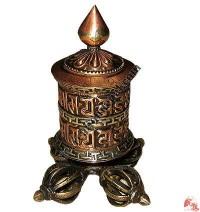 Dorje stand tiny prayer wheel