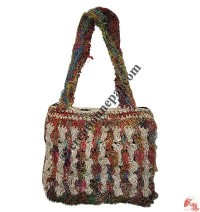 Recycled - cotton crochet bag2
