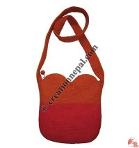2-color heart bag
