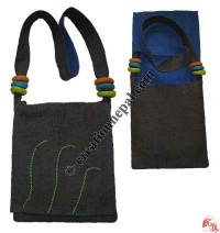 Strap-rings felt flap bag