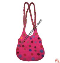 Dotted braided strap felt tank bag