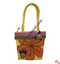 Flower gamala felt bag