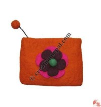 Flower felt coin purse7