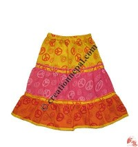 Khaddar patch-work kids skirt