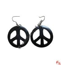 Peace ear ring
