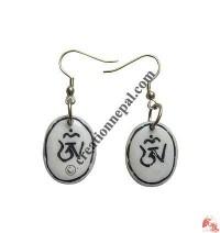 Tibetan OM ear ring