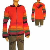 Rib hooded jacket2