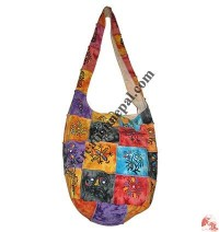Hand painted patch-work rib lama bag