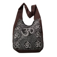 Om print cotton bag