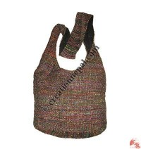 Recycled silk lama bag