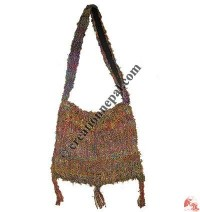 Hand crochet silk bag