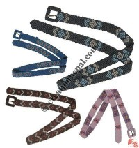 Colorful pote buckle belt