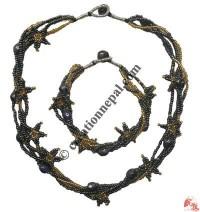 Star design necklace-bracelet set