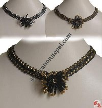 Tank flower pote necklace