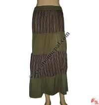 Patchwork khaddar long skirt1